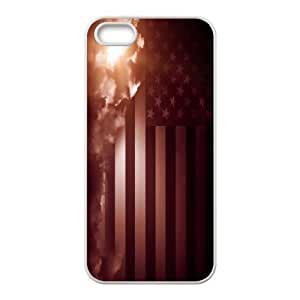 American Flag, Bold Vivid Color Design Snap-on Cover Hard Carrying Case For Apple Iphone 5 5S Cases TPUKO-Q775956