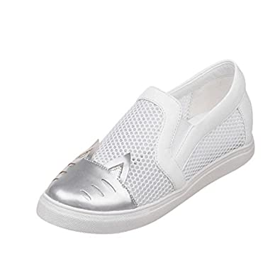 chic Carolbar Women's Assorted Colors Voile Mesh Summer Fashion Comfort Hidden Heel Casual Shoes