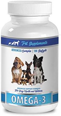 PET SUPPLEMENTS NUTRITION LLC Dog Brain Booster – Dog Omega 3 Essential Fatty ACIDS – Advanced Formula – Hair and Coat Health – Natural – Dog Omega 3 and 6-1 Bottle 180 Softgels