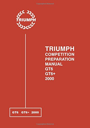 Triumph 2000 Competition Preparation Manual product image
