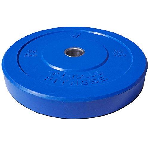 Titan Fitness 35 lb Olympic Bumper Plate Blue Benchpress Strength Training Power