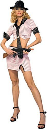 Rubie's Adult Medium 10-12 Bugsy's Babe Gangster Girl Costume Pink ()