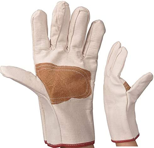 手袋 日常 実用 労働保険手袋耐摩耗性耐油滑り止め保護手袋、10ペア (Color : White, Size : L)