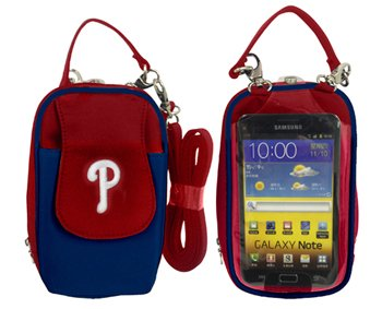 Littlearth MLB Philadelphia Phillies Crossbody Cell Phone Purse -Fits All ()