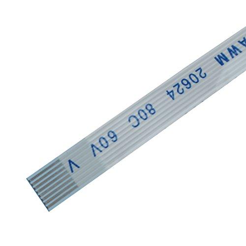 uxcell 0.5mm Pitch 6 Pin AWM 80C 60V VW-1 Flexible Flat Cable FFC 200mm 10Pcs by uxcell (Image #2)