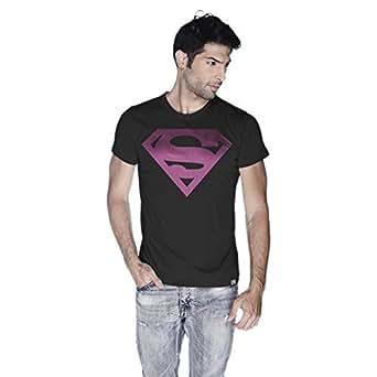 Creo Superman Pink T-Shirt For Men - Xl, Black