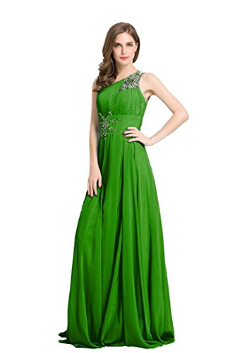 Shoulder Long Mint One Beauty Dresses Party s Women Chiffon Emily Sequins wIqROSq