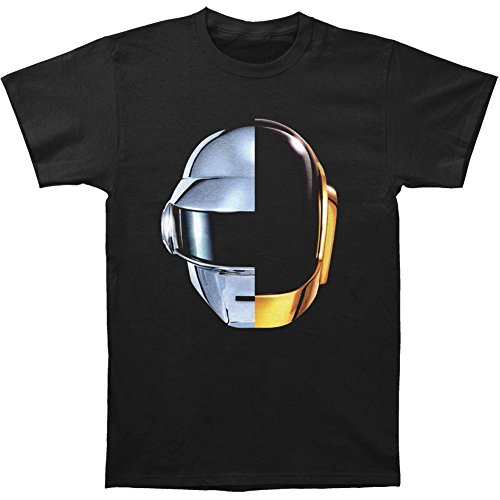 Daft Punk Men's Split Helmet T-shirt Large Black