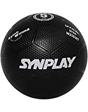 SYNPLAY - SS00130 Rubber Soccer Ball - Dimpled Moulded, Size 5 (Black)