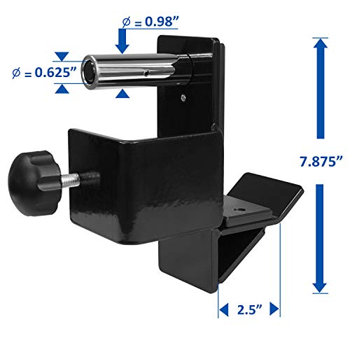 Yes4All J-Hooks Barbell Holder for Power Rack - Fit 2x2, 2x3, 3x3 Square Tube (Pair) (Black - J-Hook 3x3) by Yes4All (Image #2)