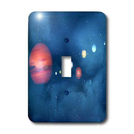 3dRose LLC lsp_18726_1 Solar System Single Toggle Switch by 3dRose