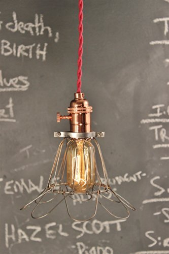 vintage-industrial-pendant-light-with-bulb-cage-copper-lamp-ceiling-lamp-swag-hanging-light