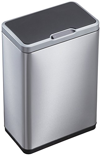 EKO 92775-1 Phantom Motion Sensor Touchless Stainless Steel Trash Can | 50 Liter