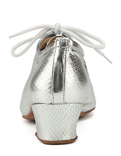 Donna A Basso Heel Collo MGM 4cm Joymod Silver OqAAf