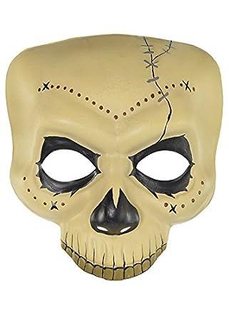 Adult Witch Doctor Voodoo Top Hat Skull Mask Fancy Dress Bones Halloween Mens