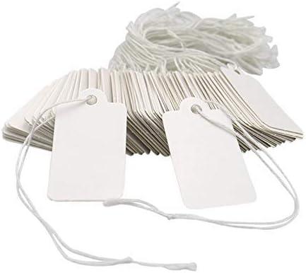 ホワイト価格タグ、マーキング紙タグ、5x3.5cm ヤードセール価格標準紙ラベル JA