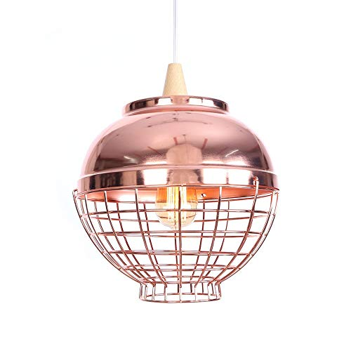 Rose Red Chandelier Single Head Simple Creative Wrought Iron Rose Gold Chandelier Bedroom Living Room Aisle Single Crystal Wood Lighting Decorative Lamps (Color : B, Size : No Light Source) ()