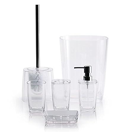 De Baño (6 piezas de plástico transparente (accesorios de ...