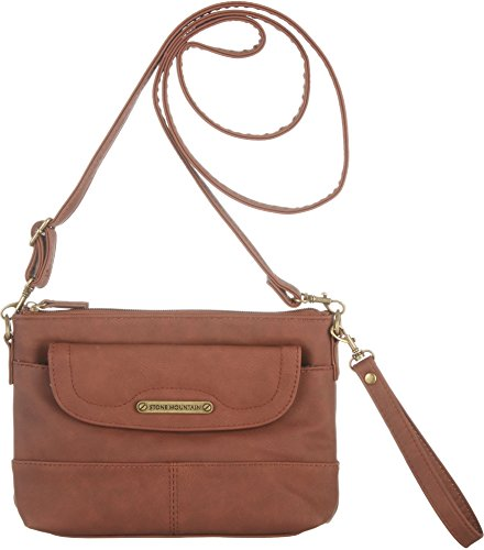 stone-mountain-three-bagger-handbag-one-size-cognac-brown