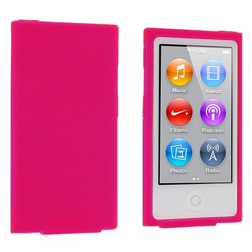 ANiceSeller(TM) Color Silicone Soft Rubber Gel Skin Case Cover for iPod Nano 7th Generation 7G 7 (Hot Pink)