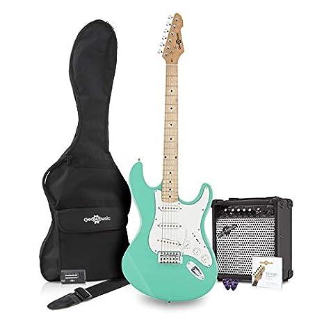 Paquete de Guitarra Electrica LA II SSS + Amplificador Seafoam ...