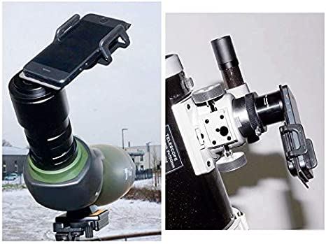 Astromania Smartphone iPhone Adapter with T2 Thread and Eyepiece Adapter 36-42mm for Photography with telescopes and Spotting Scope or Binoculars