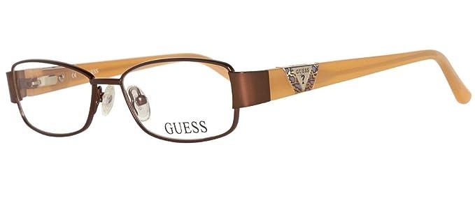 ottenere a buon mercato miglior servizio molti alla moda Guess Brille GU9125 47D96 Montature, Marrone (Braun), 47 Unisex ...