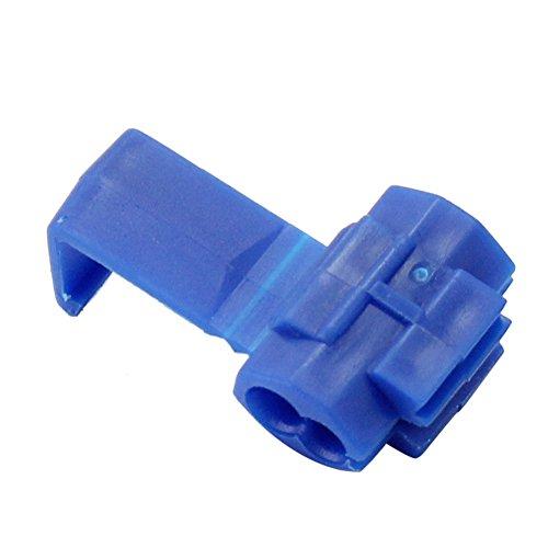 100 pcs Blue Scotch Lock Quick Splice Wire Cable Connector Terminal Crimp New ()