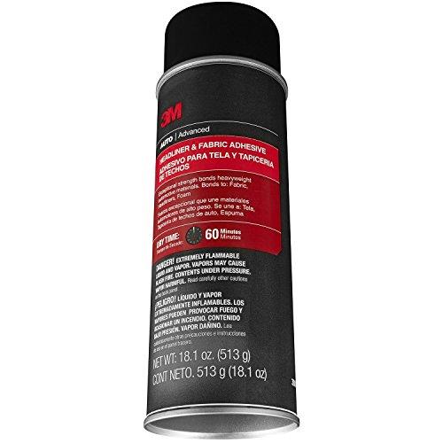 3M 38808-4PK Headliner and Fabric Adhesive - 18.1 fl. oz., (Pack of 4)