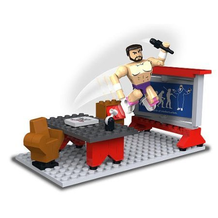 WWE Stack Down Universe Damien Sandow's School of Hard Knocks 71Pcs 21004 Construction Works with Major Block Brands by 5Star-TD