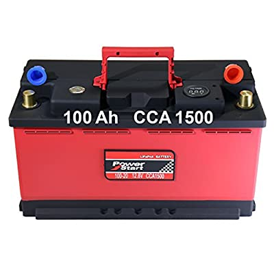Pro_LED Automotive Lithium-Iron Phosphate Starting Battery 12V 100-20 100Ah 1500CCA Portable LiFePO4 LFP Battery without Jump Starter for Race Car ATV UTV Snowmobile Marine RV Golf 2 Years Warranty