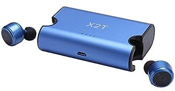 [Versión Actualizada] icase4u® X2T Mini Auriculares Inalámbricos con Caja de Carga, Estéreo
