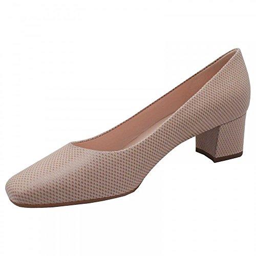 Peter Kaiser Ghana Block Low Heel Court Shoes Beige vjepIhddpc