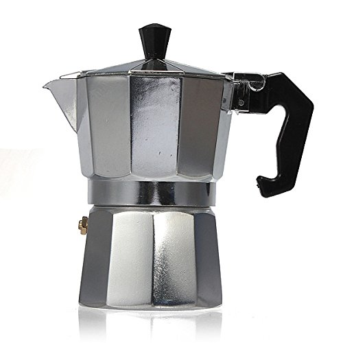 UL Aluminum Moka Espresso Latte Percolator Stove Coffee Maker Pot Coffee Percolators (300ml)
