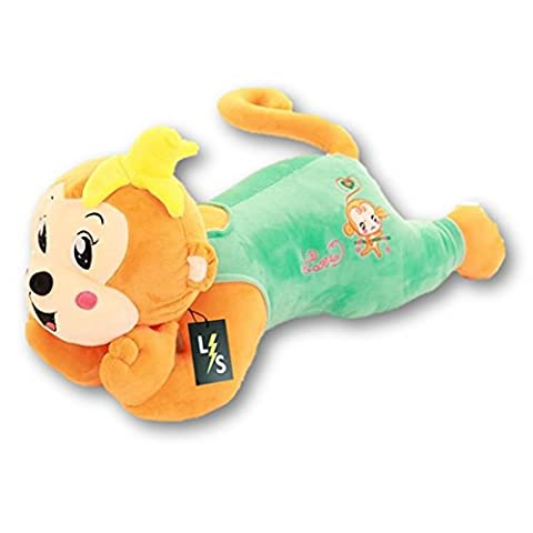 LightningStore Adorable Cute Big Giant Large Green Yellow Pink Red Monkey Pillow Cushion Bolster Stuffed Animal Doll Realistic Looking Plush Toys Plushie Children's Gifts - Doug Plush Border Collie