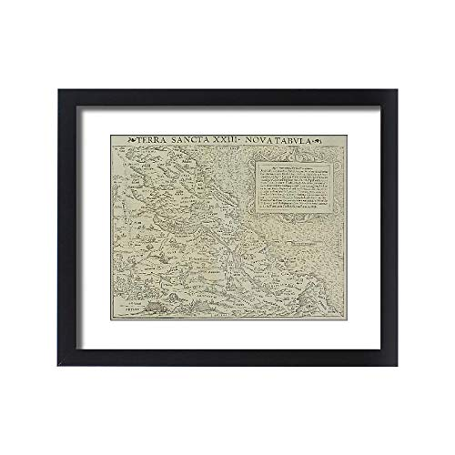 - Media Storehouse Framed 20x16 Print of Antique map of The holy Land (13609411)