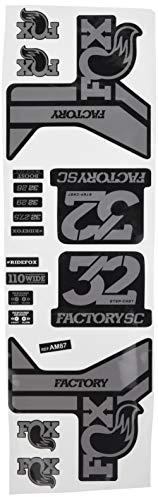 Ecoshirt WA-ZIJ7-7874 Stickers Fork Fox 32 Factory SC Float 2017 Am87 Stickers Decals Stickers Vork Grijs