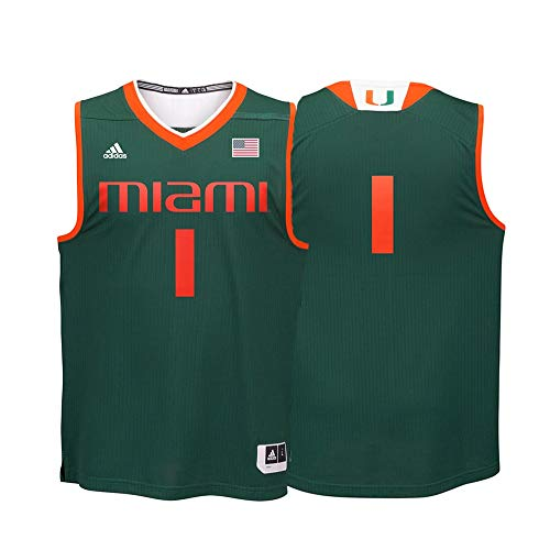 - NCAA Miami Hurricanes Men's Basketball Replica Jersey, X-Large, Green