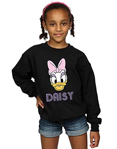 Disney Girls Daisy Duck Face Sweatshirt 5-6 Years Black ()