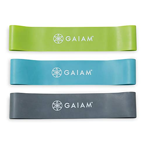 Gaiam Restore Mini Band Kit - Lower Body Loop Resistance Bands for Legs and Booty Exercises & Workouts ()