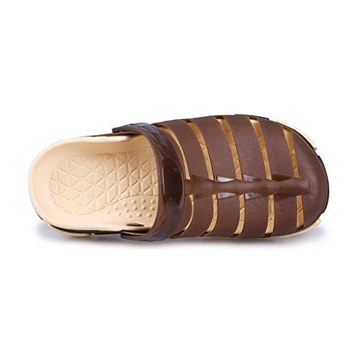 Hishoes , Sandales Compensées homme - marron - marron,