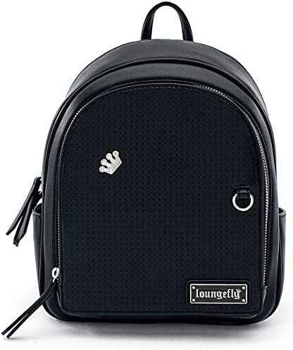 Loungefly Black Pin Trader Faux-Leather Mini Backpack