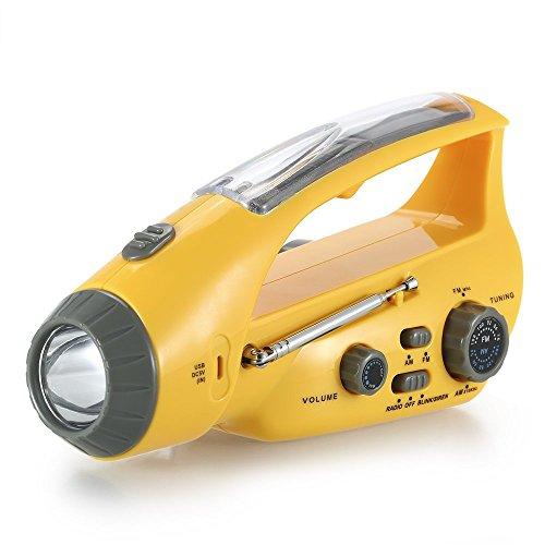 (Hand Crank , Lollipop Solar Emergency Hand Crank Self Powered Emergency Generator, FM/AM Radio with LED Flashlight, Phone Charger)