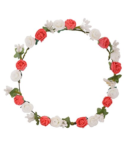 Buy Sanjog Glorious Red And White Flower Tiaraheadwrap For Kids