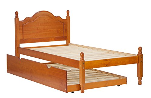 Palace Imports Wood Reston Panel Platform 1434, Twin Size, 12 Included. Trundle, Drawers, Rail Sold Separately.