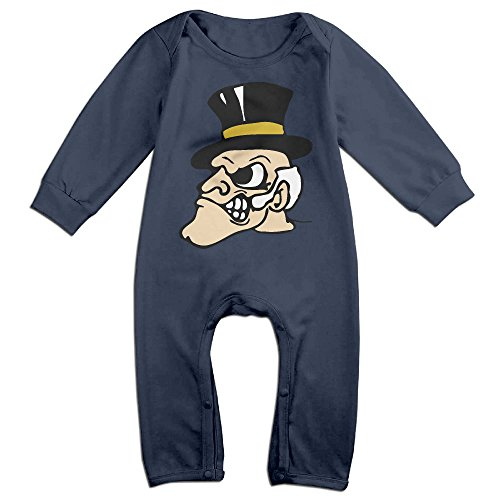 JJVAT Wake Forest University Long Sleeve Outfits For 6-24 Months Infant Size 24 Months Navy (Spy Gear Camera Car compare prices)