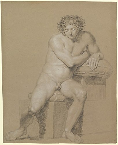 "Study of a Seated Male Nude Poster Print by Philipp Otto Runge (German Wolgast 1777 ""1810 Hamburg) (18 x 24)"