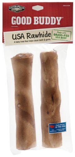 Good Buddy 7 Inches Usa Rawhide Sticks, 2 Count (Pack of 1), My Pet Supplies