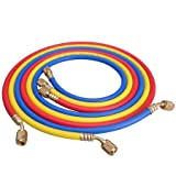 Brand New Set of R134a 5ft Standard Refrigeration Charging Hoses with 3 Colors