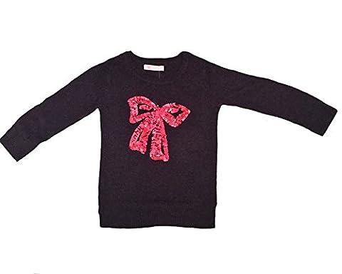 Premium Pinc Girls Sequin Bow Pullover Sweater - Girls 2T (Pinc Premium Toddler)